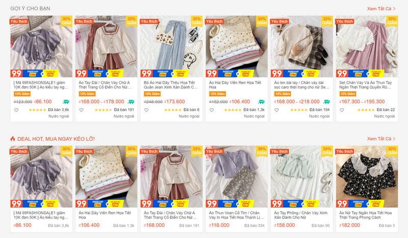 Top shop bán quần áo Taobao chất lượng nay đã có mặt trên Shopee